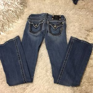 Miss Me boot jeans 24 x 31 **rips see pics
